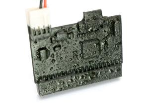 Elektronik geschützt: Im Wasserzähler sind die Platinen mit Plasti Dip gummiert